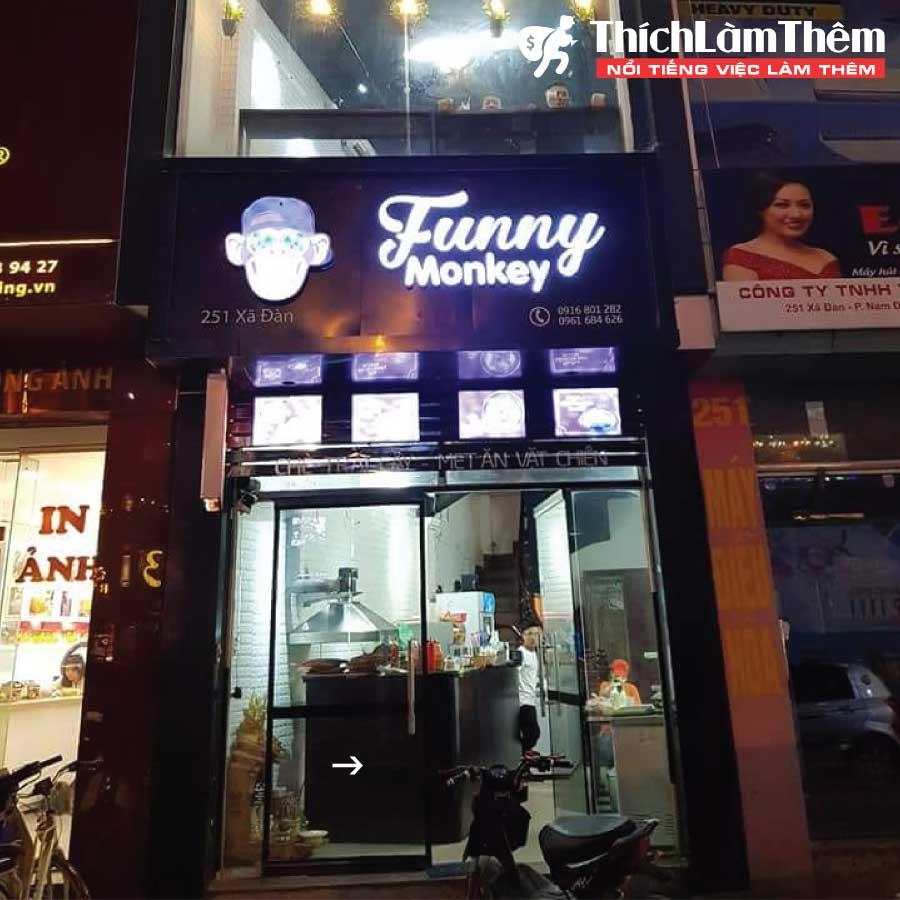 Tuyển nhân viên phục vụ, giao hàng , bán hàng – Cửa hàng Funny Monkey