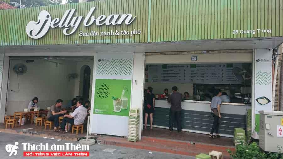Tuyển nhân viên bán hàng, phục vụ theo ca – Cửa hàng Tào phớ Jellybean