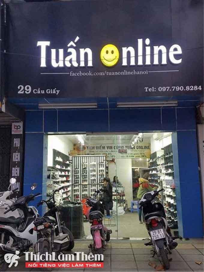 Tuyển nhân viên bán hàng – Shop Tuấn Online
