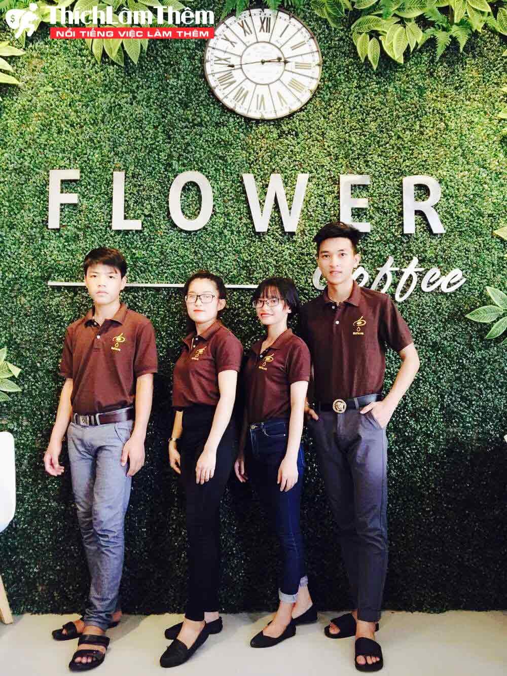 Tuyển nhân viên phục vụ ca sáng – Quán flower coffee