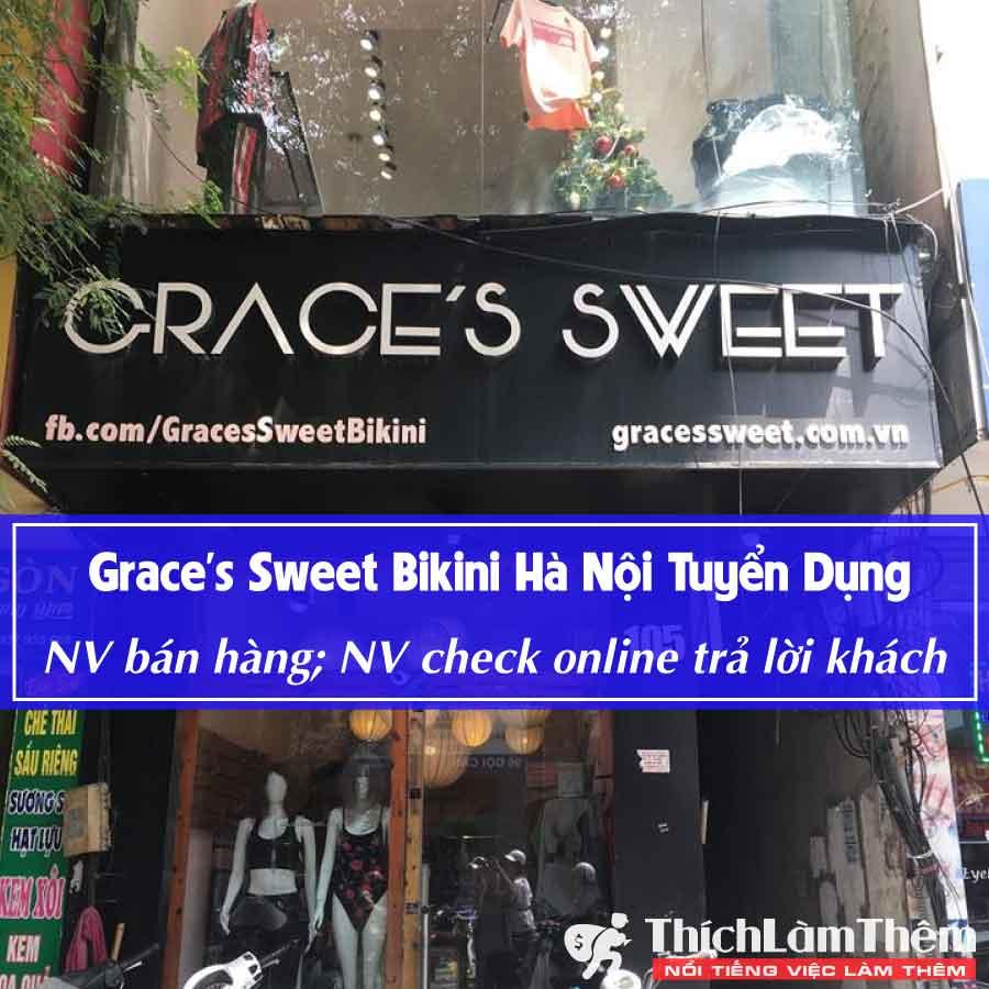 Tuyển nhân viên bán hàng, chốt đơn – Shop Grace's Sweet Bikini