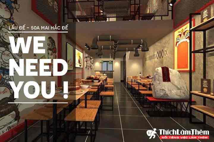 Tuyển nhân viên phụ bếp – Nhà hàng Lẩu Đế