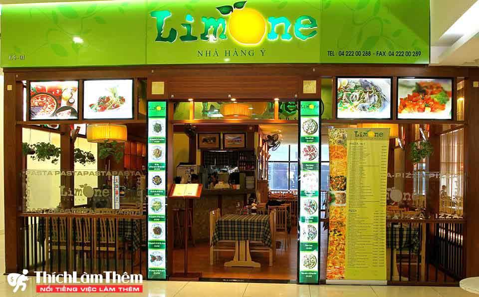 Tuyển nhân viên phục vụ – Nhà hàng Pizza Limone