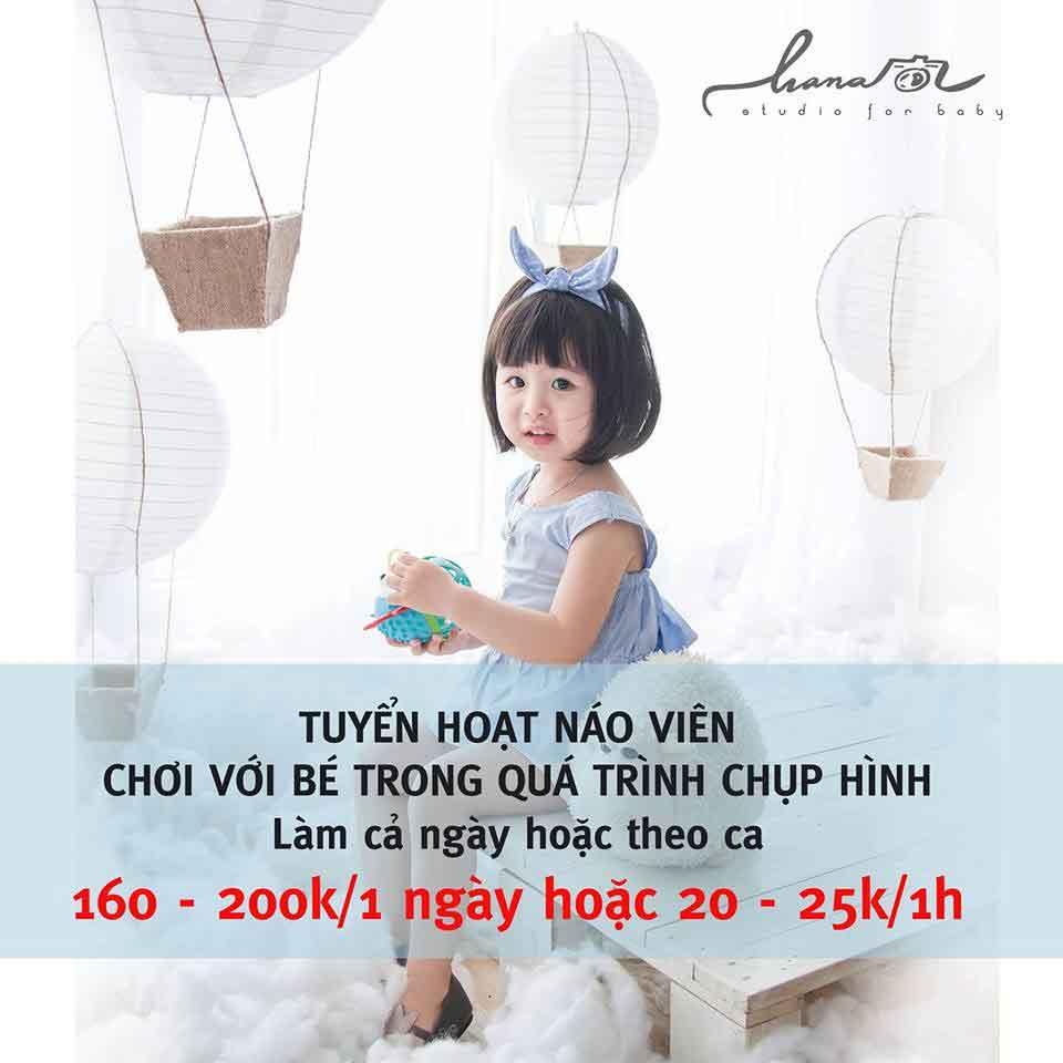 Tuyển hoạt náo viên chơi với bé – Hana Baby Studio