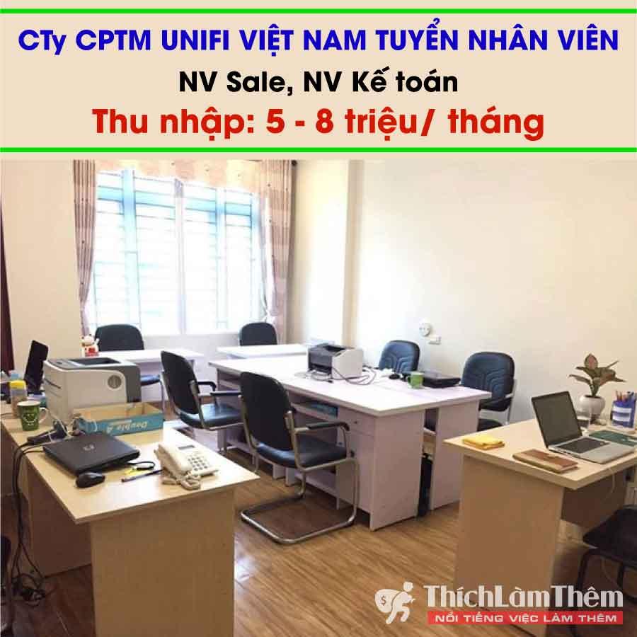 Tuyển nhân viên sales , kế toán – Công ty CPTM Unify Việt Nam