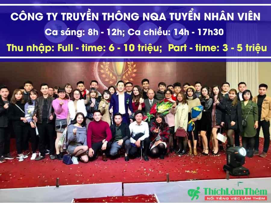 Tuyển nhân viên telesales – Công ty TNHH truyền thông NQA Việt Nam