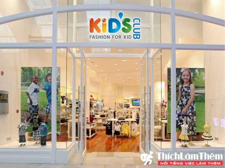 Tuyển nhân viên bán hàng , thu ngân – Hệ thống thời trang trẻ em Kid's Club