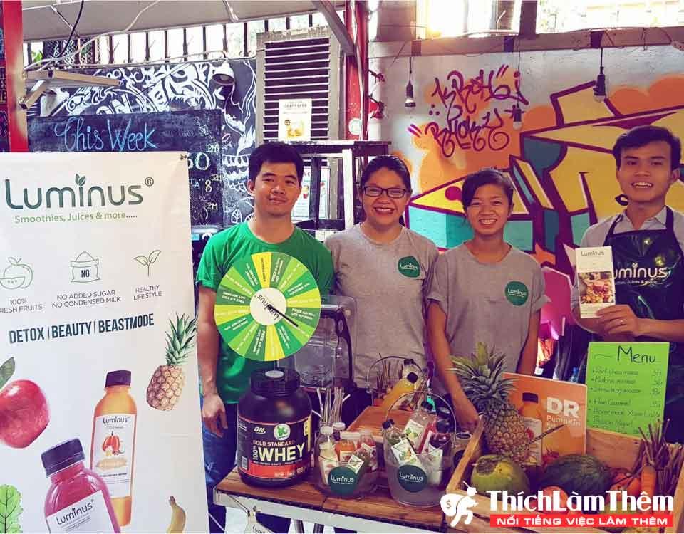 Nhân viên giám sát, pha chế và giao hàng lương 4-6 triệu/ tháng – Cửa hàng Luminus