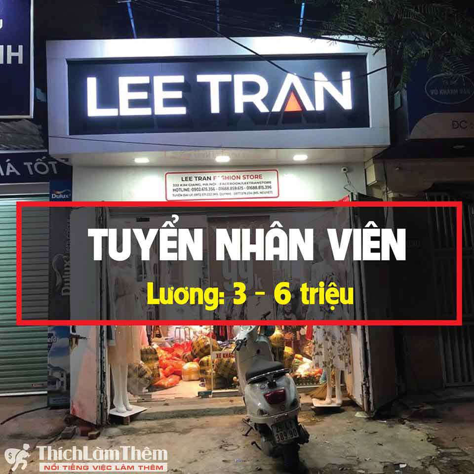 Tuyển nhân vien bán hàng – Shop Lee Tran