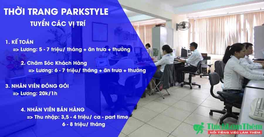 Tuyển nhân viên nhiều vị trí – Hệ thống thời trang Parkstyle