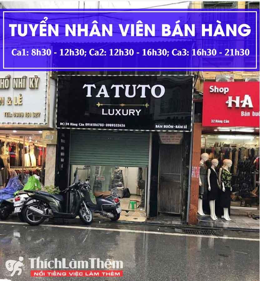 Tuyển nhân viên bán hàng – Shop Tatuto luxury