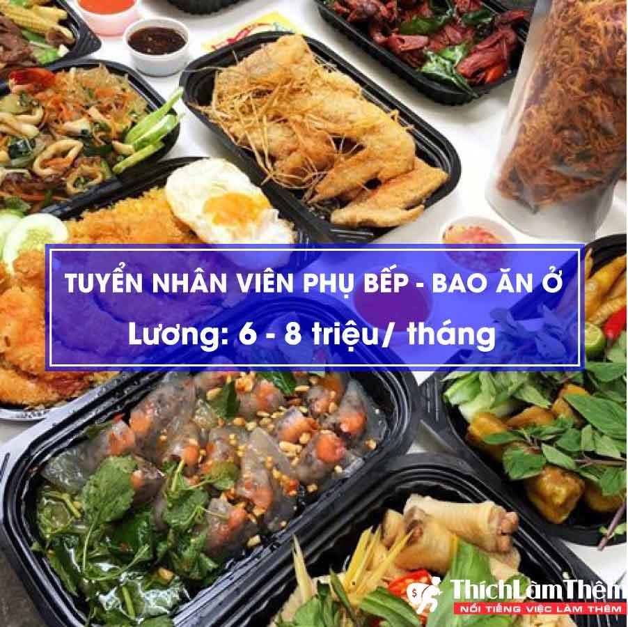 Tuyển nhân viên phụ bếp lương 6-8 triệu – quán đồ ăn đêm
