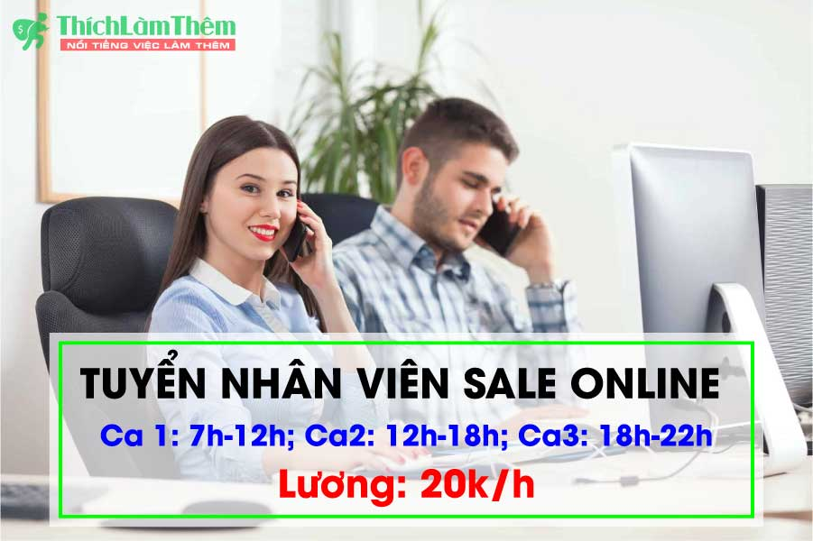 Tuyển sinh viên Sales Online lương cao tại Q. Hoàng Mai