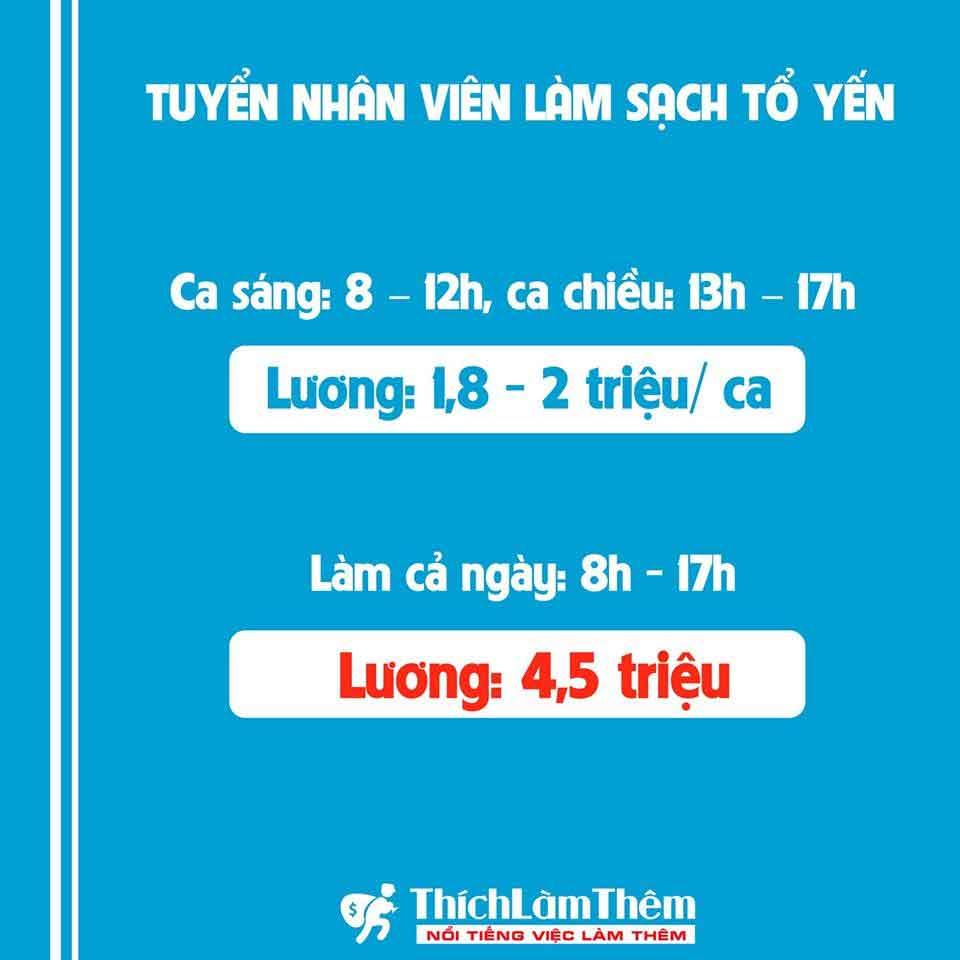 Tuyển nhân viên làm sạch tổ yến – Yến sào Nam Việt