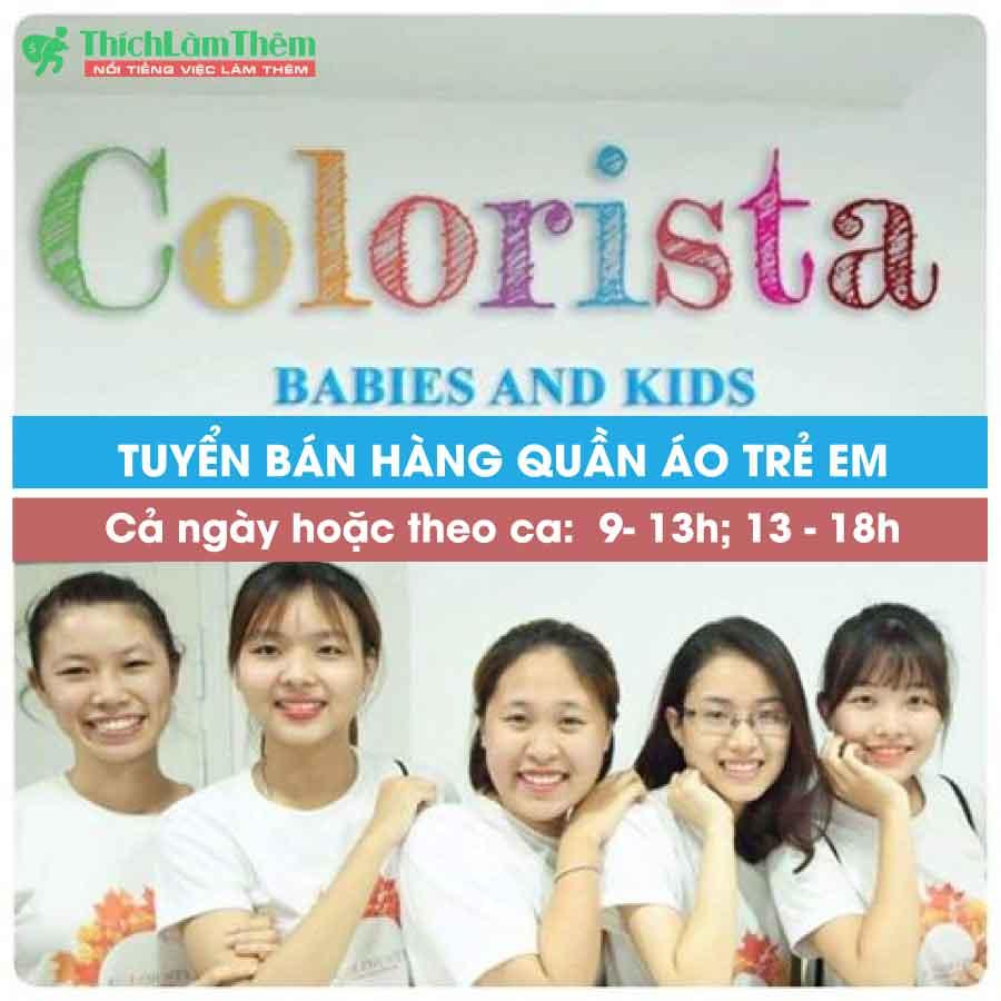 Tuyển nhân viên tư vấn bán hàng – Cửa hàng thời trang trẻ em Colorista