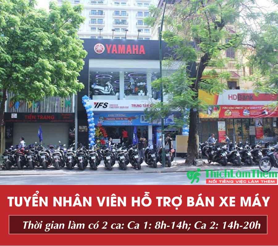 Tuyển nhân viên PG, PB hỗ trợ bán hàng – Cửa hàng Yamaha Town