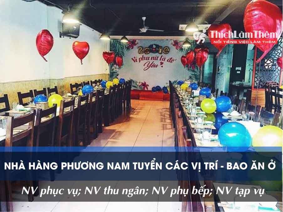 Tuyển nhân viên nhiều vị trí – Nhà hàng Phương Nam