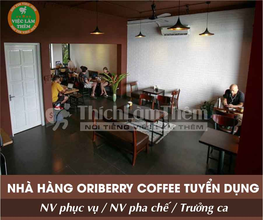 Tuyển nhân viên phục vụ, pha chế – Nhà hàng Oriberry