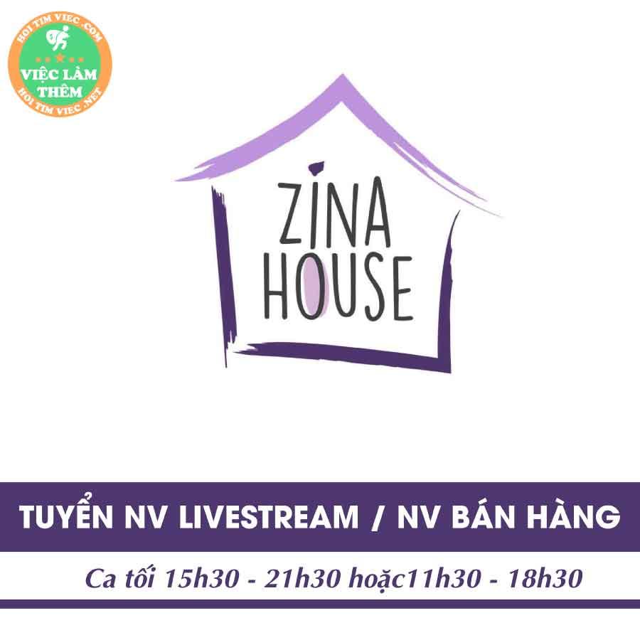 Tuyển nhân viên bán hàng, livestream – Shop Zina House