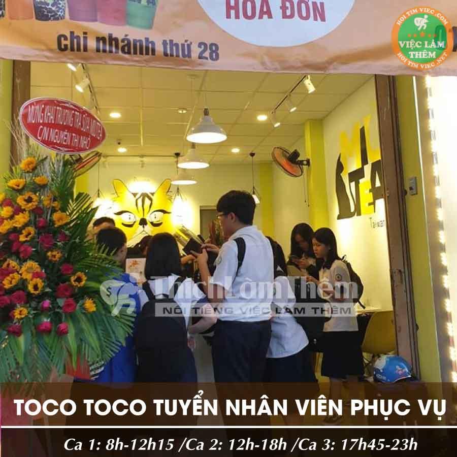 Tuyển dụng nhân viên bán trà sữa – ToCoToCo Nguyễn Thị Nhỏ