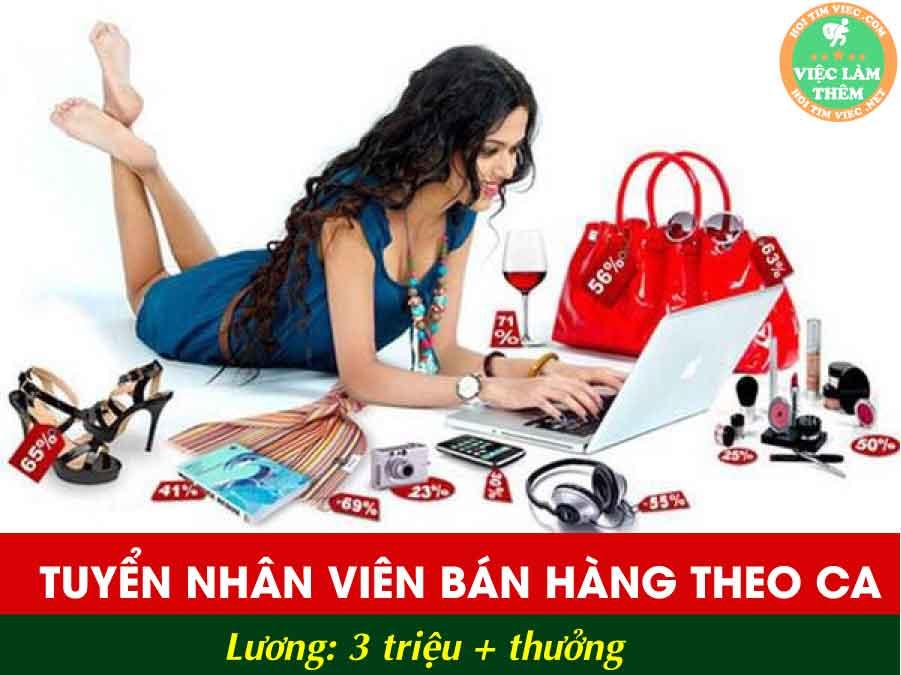 Tuyển nhân viên bán hàng – Shop Vely