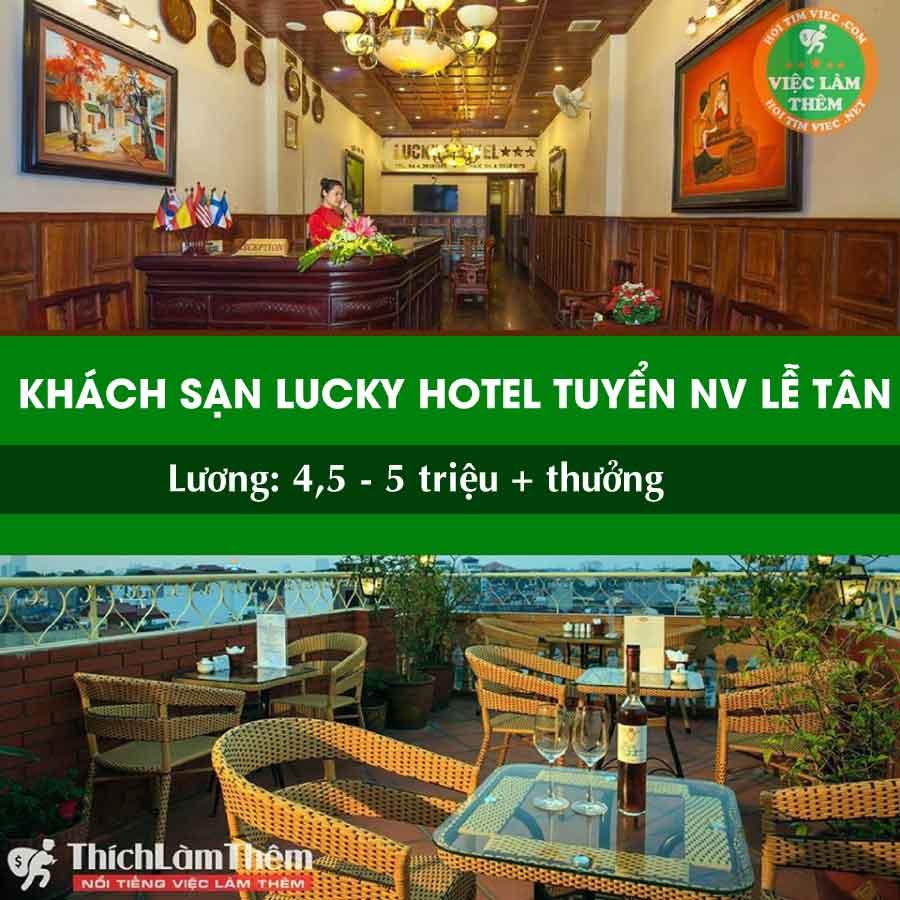 Tuyển nhân viên lễ tân, bell, buồng – Khách Sạn Lucky Hotel