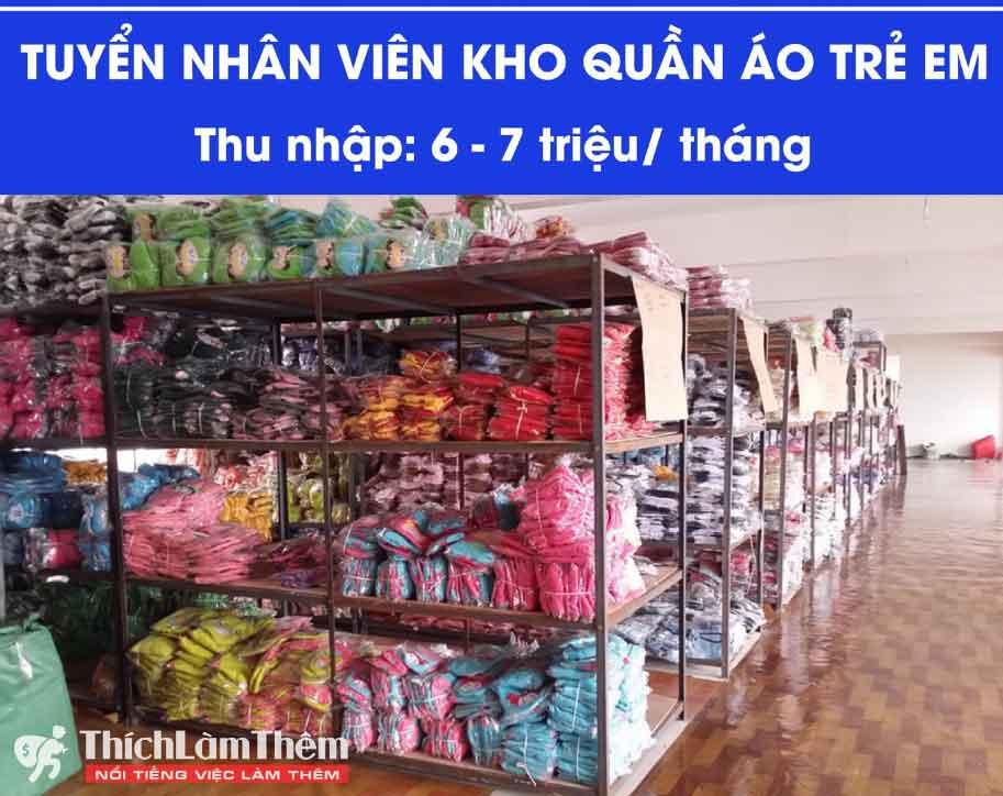 Tuyển nhân viên kho – Shop Thời Trang Trẻ Em