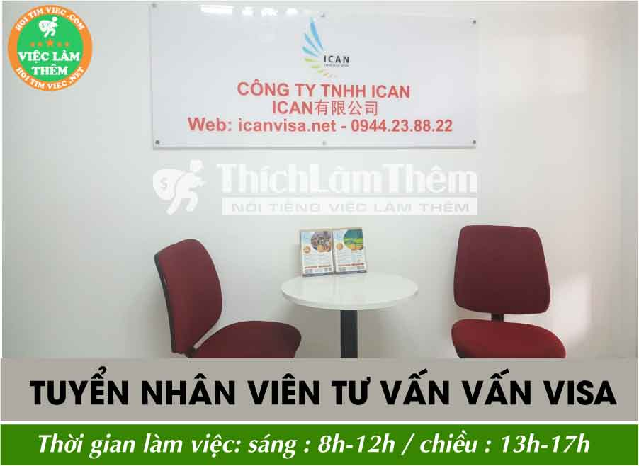 Tuyển nhân viên tư vấn visa và học tiếng Trung miễn phí – Công ty TNHH Ican