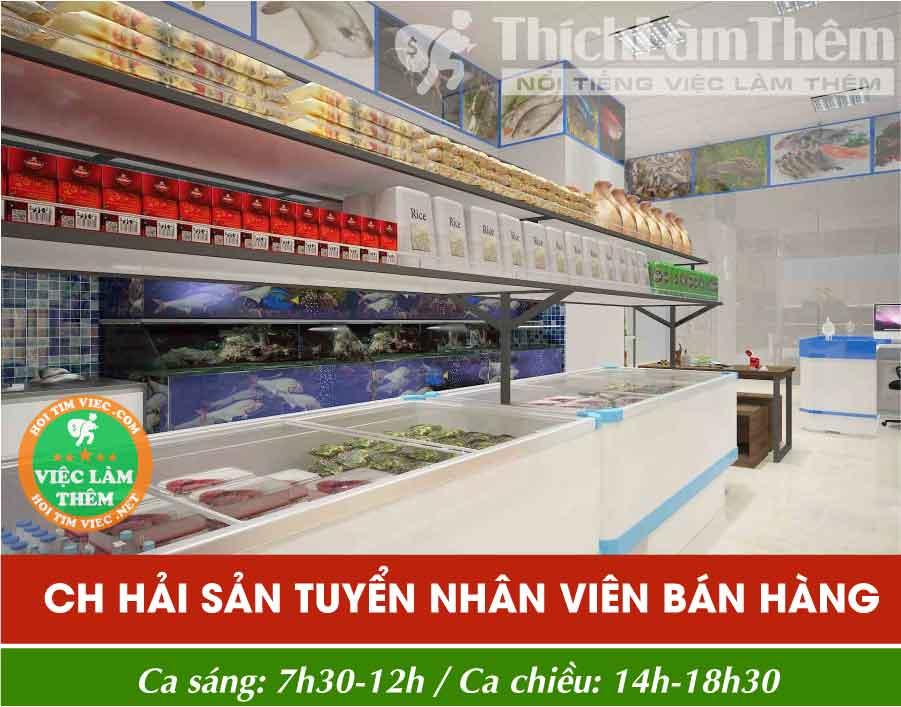 Tuyển nhân viên bán hàng – Cửa hàng hải sản Em Mú