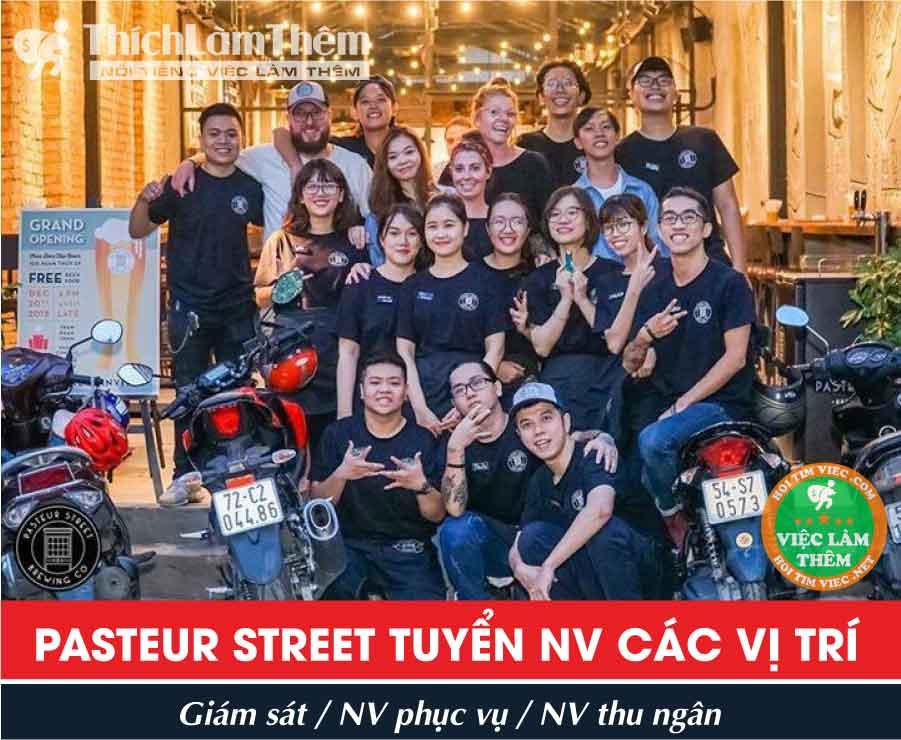Tuyển nhân viên phục vụ, thu ngân, giám sát – Pasteru Street