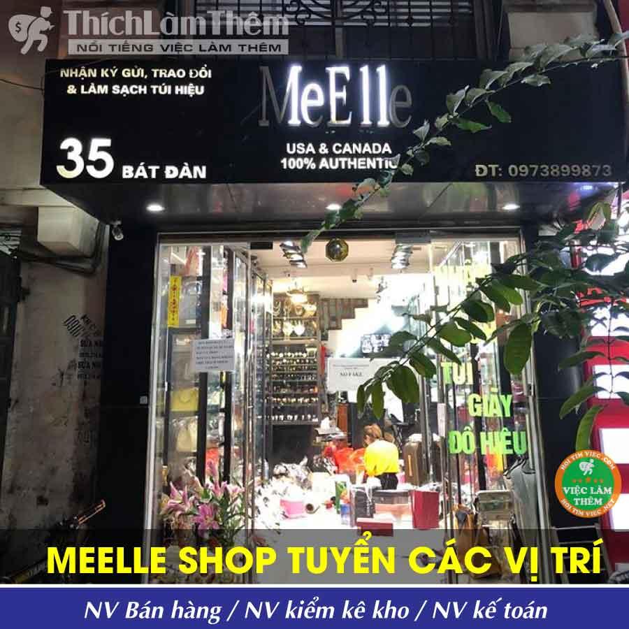 Tuyển nhân viên bán hàng, kiểm kho, kế toán – Meelle Shop _ Thời Trang Đồ Hiệu
