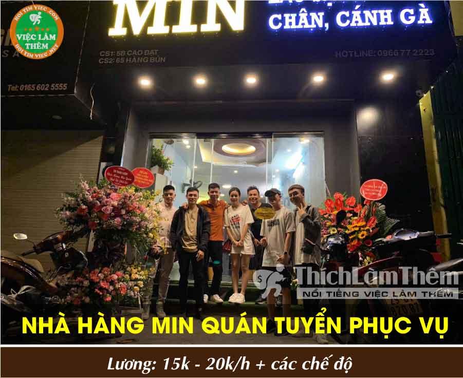 Tuyển nhân viên phục vụ, thu ngân – Nhà hàng lẩu sạch Min Quán