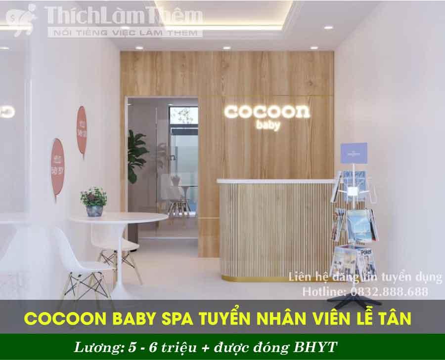 Tuyển nhân viên lễ tân – Cocoon Baby Spa