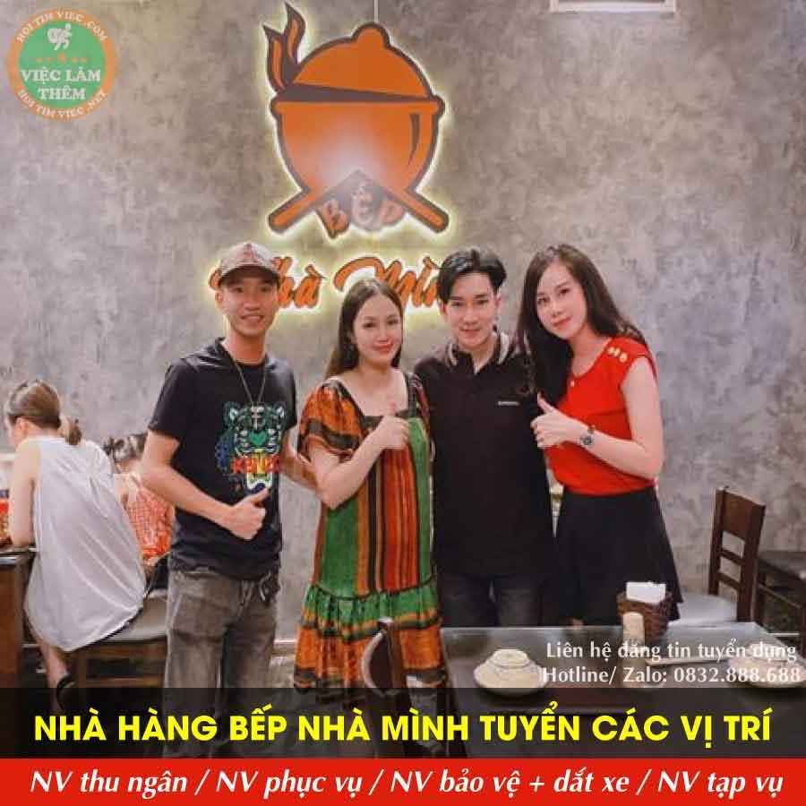 Tuyển nhân viên phục vụ, thu ngân, bảo vệ, tạp vụ – Nhà hàng Bếp Nhà Mình