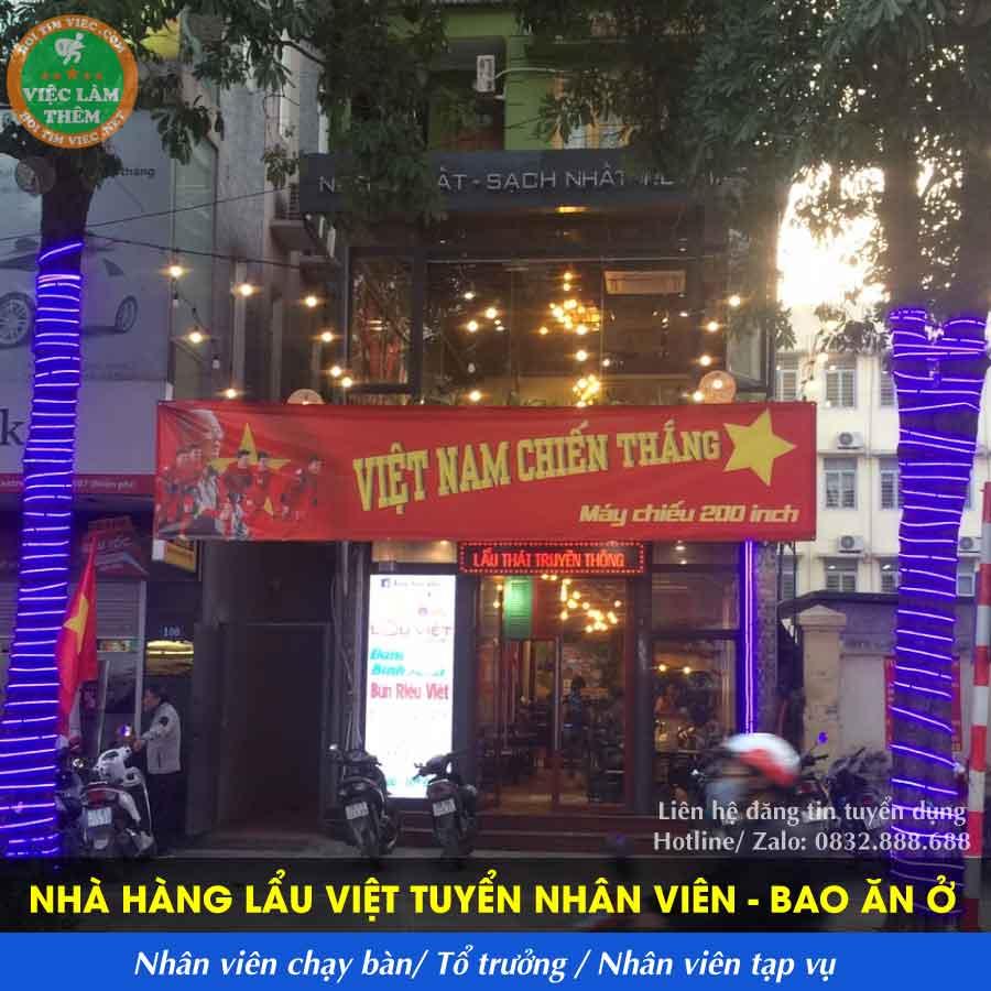 Tuyển tổ trưởng, phục vụ và tạp vụ – Nhà hàng lẩu Việt chính hiệu