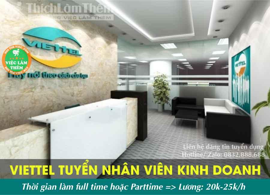 Tuyển nhân viên chăm sóc khách hàng – Phòng KD Viettel