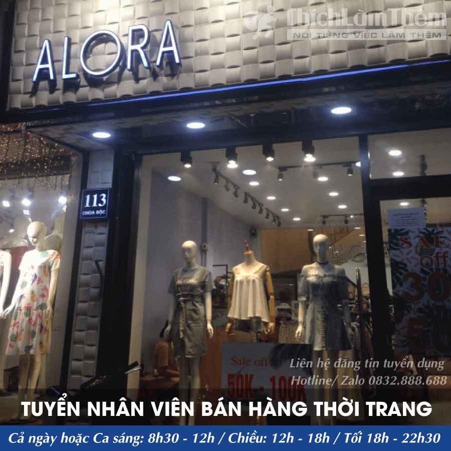 Tuyển nhân viên bán hàng – ALORA_SHOP