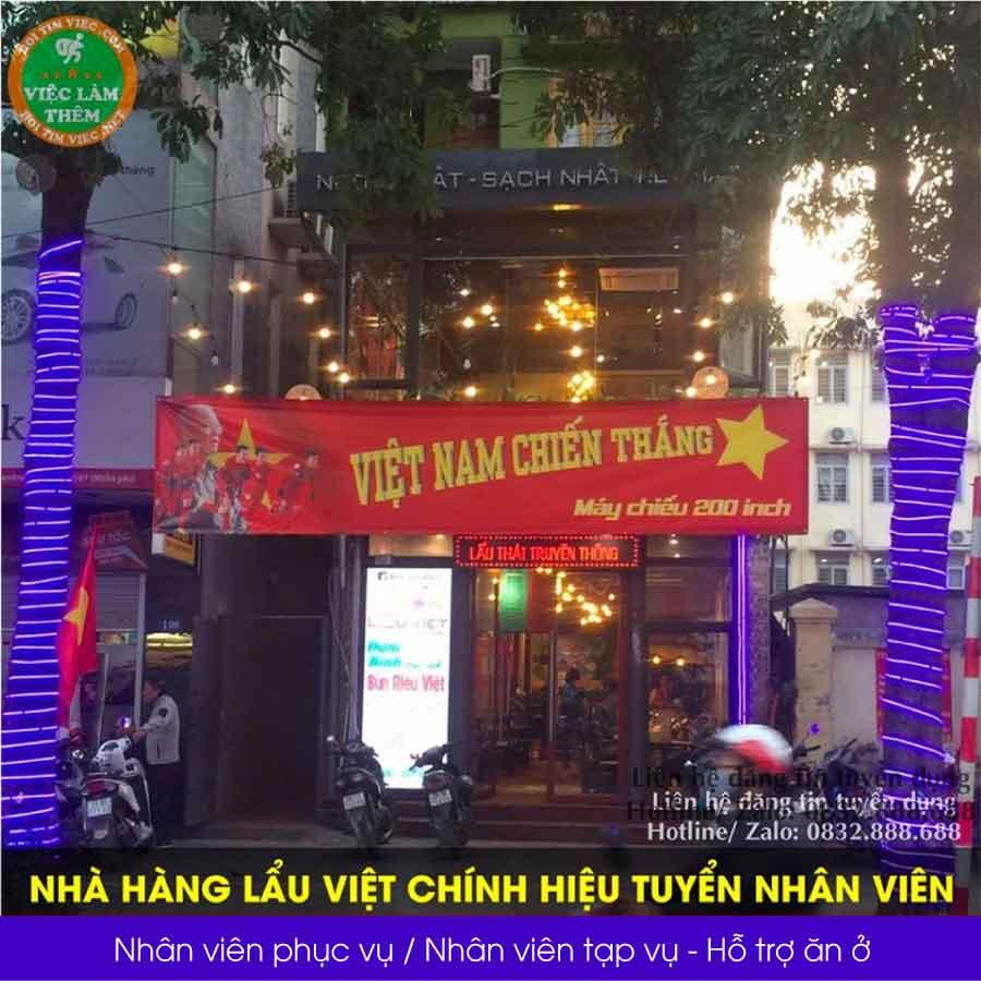 Tuyển nhân viên phục vụ bàn, tạp vụ – Nhà hàng lẩu Việt chính hiệu