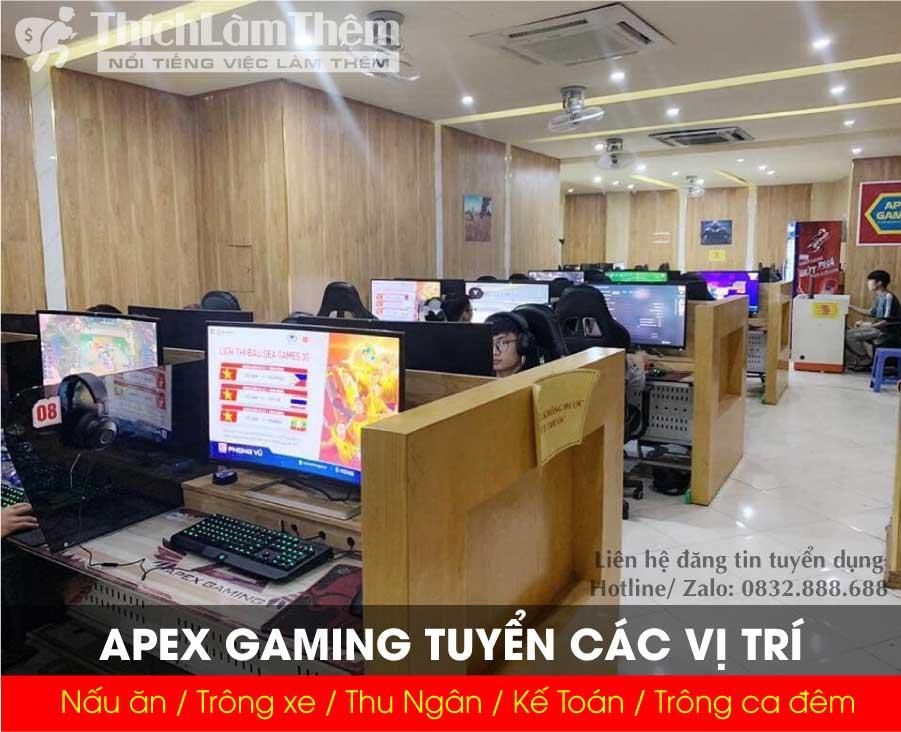 Tuyển trông quán net, nấu ăn , trông xe, thu ngân, kế toán – Apex gaming
