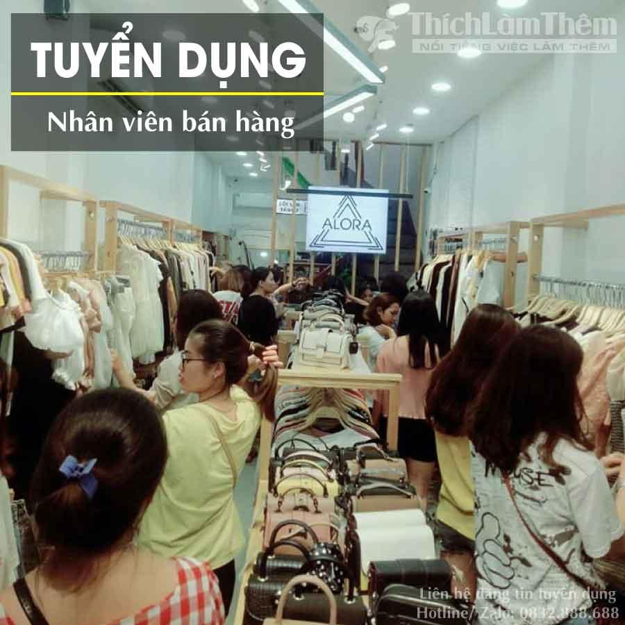 Tuyển nhân viên bán hàng – Shop thời trang Alora