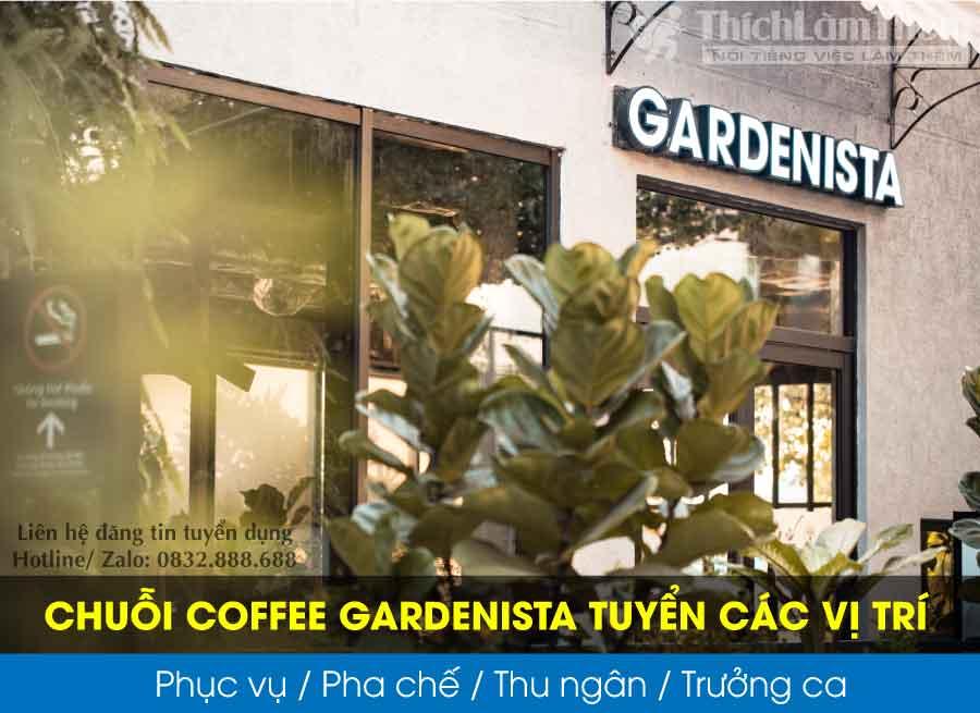 Tuyển pha chế, phục vụ, thu ngân, trưởng ca – Chuỗi Coffee Gardenista
