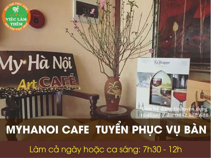 Tuyển nhân viên phục vụ bàn – Myhanoi Cafe