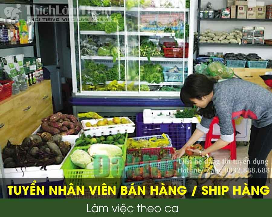 Tuyển nhân viên bán hàng, ship hàng – Công ty Đông Dương