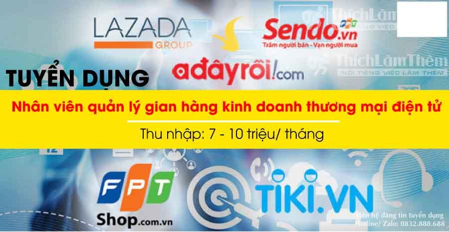 Tuyển nhân viên gian hàng điện tử, nhân viên kho – Shop online