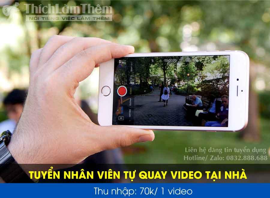 Tuyển nhân viên quay video tại nhà – Youtuber