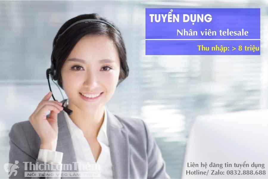 Tuyển nhân viên telesale – Công ty online