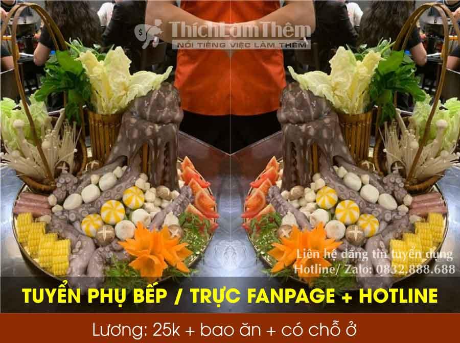 Tuyển nhân viên phụ bếp, trực hotline + fanpage – CH ship đồ ăn đêm Trang Béo