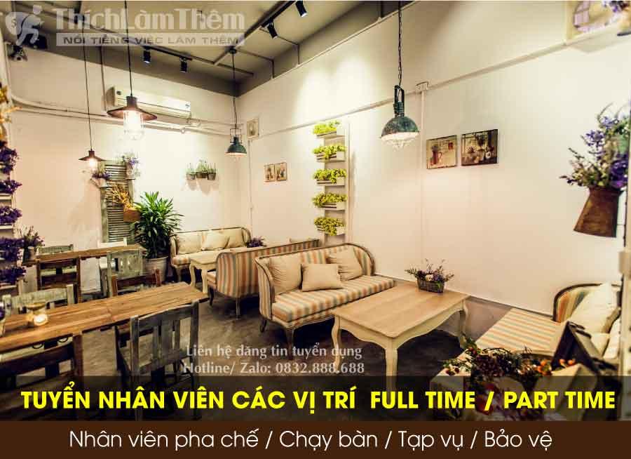 Tuyển nhân viên pha chế, chạy bàn, tạp vụ, trông xe – YumYum Vietnammese Cafe & Cuisine