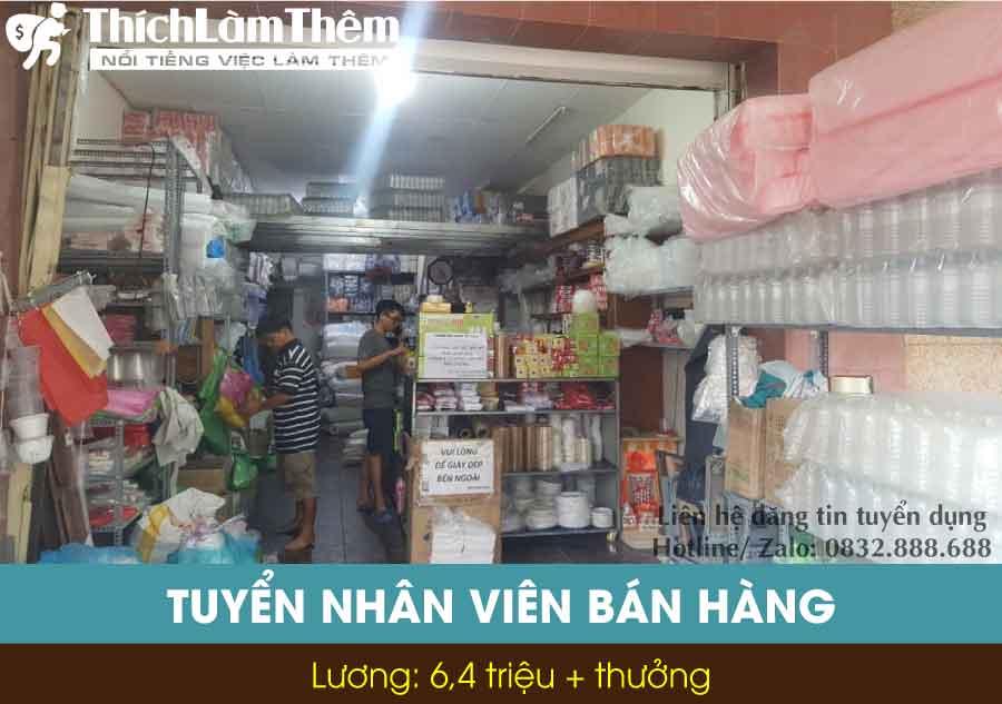 Tuyển nhân viên bán hàng – Cửa hàng Bao Bì Lâm Cát