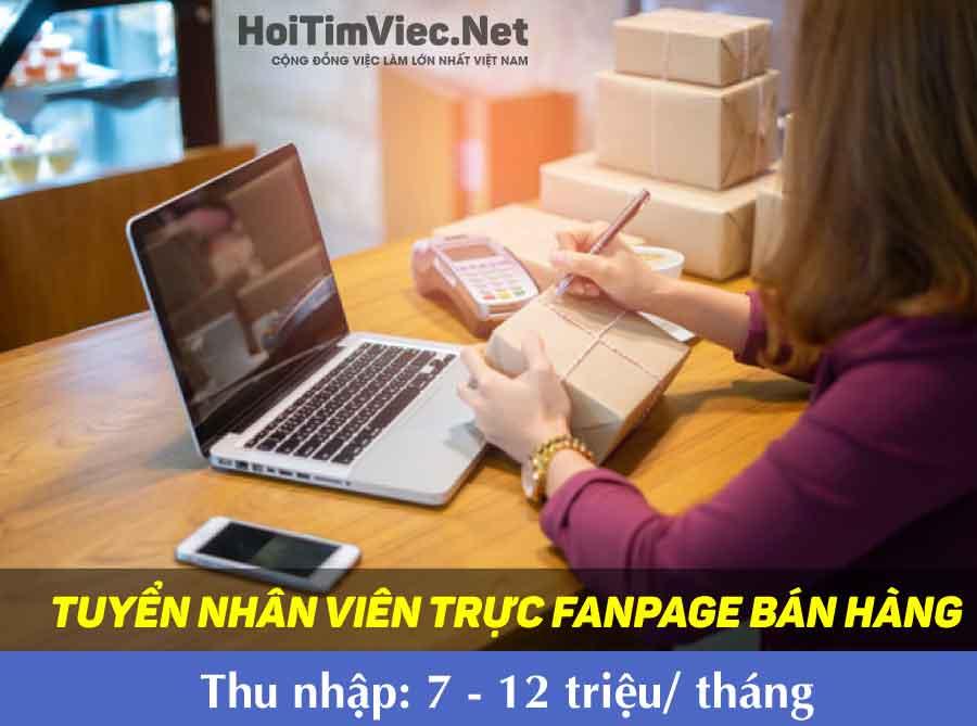 Tuyển nhân viên trực fanpage bán hàng – Shop online